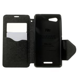 Peněženkové pouzdro s okýnkem na Sony Xperia E3 - černé - 4