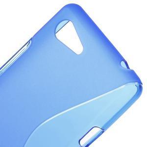 S-line gelový obal na Sony Xperia E3 - modrý - 4