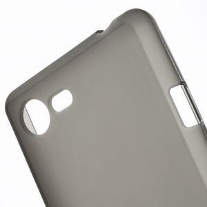 Matný gelový obal na mobil Sony Xperia E3 - šedý - 4