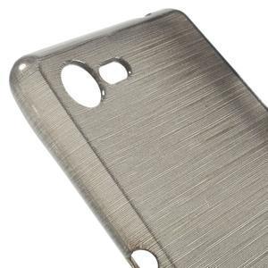Brushed gelový obal na mobil Sony Xperia E3 - šedý - 4