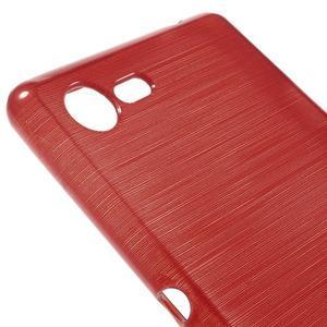 Brushed gelový obal na mobil Sony Xperia E3 - červený - 4