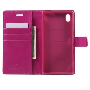 Moon PU kožené pouzdro na mobil Sony Xperia M4 Aqua - rose - 4