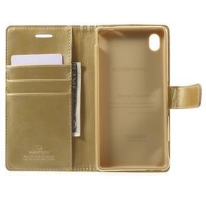 Moon PU kožené pouzdro na mobil Sony Xperia M4 Aqua - zlaté - 4
