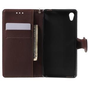 Leaf PU kožené pouzdro na mobil Sony Xperia M4 Aqua - červené - 4