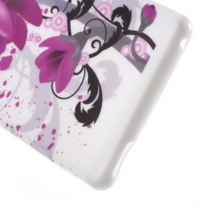 Emotive gelový obal na Sony Xperia M4 Aqua - fialový květ - 4