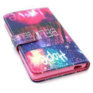 Pouzdro na mobil Sony Xperia M4 Aqua - believe - 4