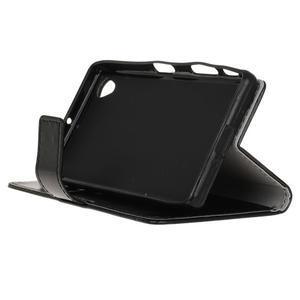 Horse PU kožené pouzdro na Sony Xperia X - černé - 4