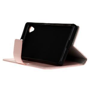 Horse PU kožené pouzdro na Sony Xperia X - růžové - 4