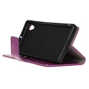 Horse PU kožené pouzdro na Sony Xperia X - fialové - 4