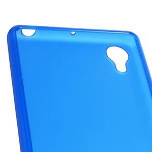 Matný gelový obal na mobil Sony Xperia X - modrý - 4