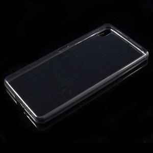 Ultratenký 0.5 mm gelový obal na Sony Xperia X - šedý - 4
