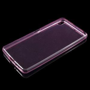Ultratenký 0.5 mm gelový obal na Sony Xperia X - rose - 4