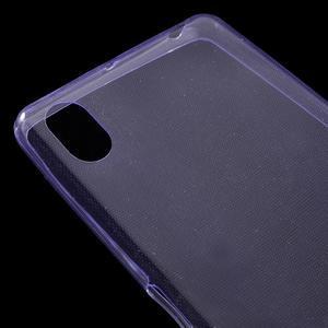 Ultratenký 0.5 mm gelový obal na Sony Xperia X - fialový - 4