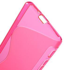 S-line gelový obal na Sony Xperia X - rose - 4