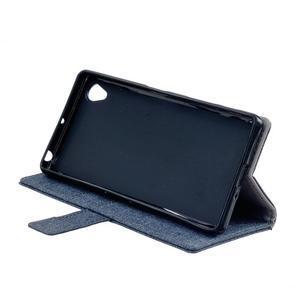 Texture pouzdro na mobil Sony Xperia X - tmavěmodré - 4