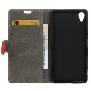Walle peněženkové pouzdro na Sony Xperia X - červené - 4