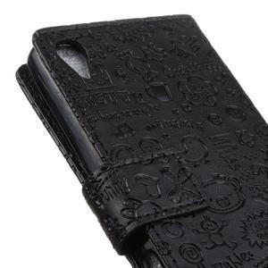 Cartoo peněženkové pouzdro na Sony Xperia X - černé - 4