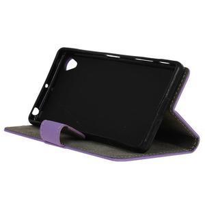 Walle peněženkové pouzdro na Sony Xperia X - fialové - 4