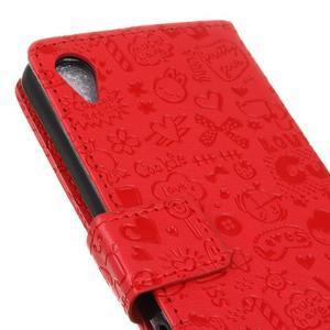 Cartoo peněženkové pouzdro na Sony Xperia X - červené - 4