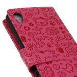 Cartoo peněženkové pouzdro na Sony Xperia X - rose - 4/7