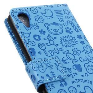 Cartoo peněženkové pouzdro na Sony Xperia X - modré - 4