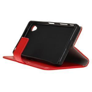 Grain koženkové pouzdro na Sony Xperia X - červené - 4