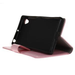 Grain koženkové pouzdro na Sony Xperia X - růžové - 4