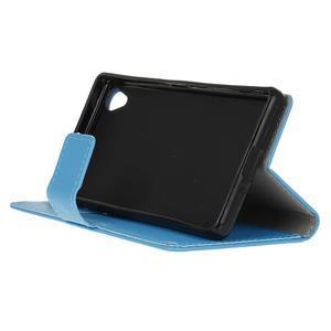Grain koženkové pouzdro na Sony Xperia X - modré - 4