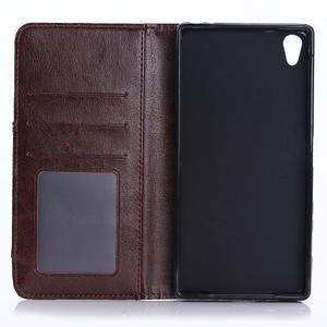 Jeans peněženkové pouzdro na mobil Sony Xperia XA - černomodré - 4