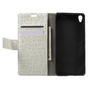 Cartoo peněženkové pouzdro na mobil Sony Xperia XA - bílé - 4