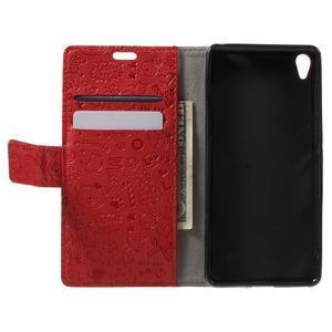 Cartoo peněženkové pouzdro na mobil Sony Xperia XA - červené - 4