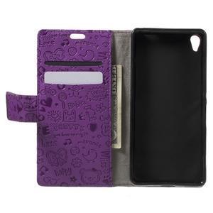 Cartoo peněženkové pouzdro na mobil Sony Xperia XA - fialové - 4