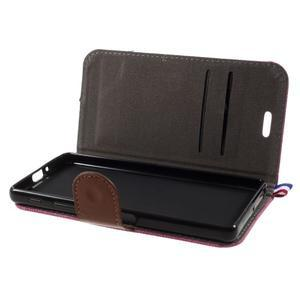 Denim textilní/koženkové pouzdro na Sony Xperia XA - rose - 4