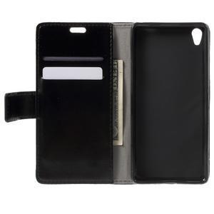 Horse PU kožené pouzdro na mobil Sony Xperia XA - černé - 4