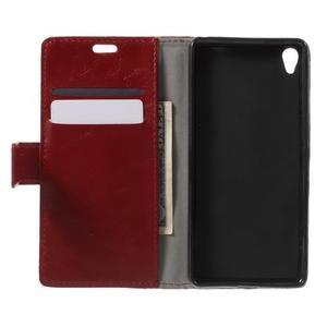 Horse PU kožené pouzdro na mobil Sony Xperia XA - červené - 4