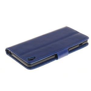 Dandely PU kožené pouzdro na mobil Sony Xperia XA - modré - 4