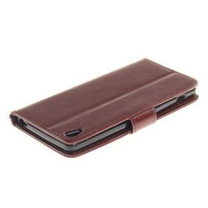 Dandely PU kožené pouzdro na mobil Sony Xperia XA - hnědé - 4