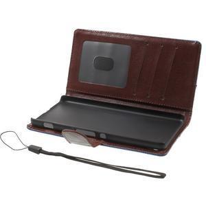 Jeansy PU kožené/textilní pouzdro na Sony Xperia XA - modré - 4
