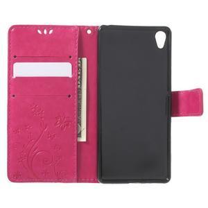 Butterfly pouzdro na mobil Sony Xperia XA - rose - 4