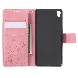Butterfly pouzdro na mobil Sony Xperia XA - růžové - 4