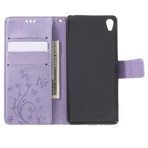 Butterfly pouzdro na mobil Sony Xperia XA - fialové - 4