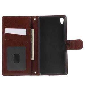 Jeansy PU kožené/textilní pouzdro na Sony Xperia XA - černé - 4