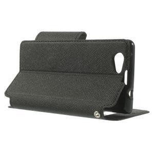 Okýnkové pouzdro na mobil Sony Xperia Z1 Compact - černé - 4