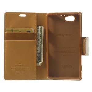 Sonata PU kožené pouzdro na mobil Sony Xperia Z1 Compact - hnědé - 4