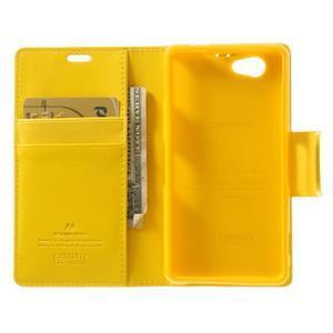 Sonata PU kožené pouzdro na mobil Sony Xperia Z1 Compact - žluté - 4