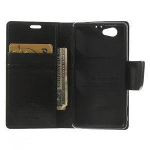 Sonata PU kožené pouzdro na mobil Sony Xperia Z1 Compact - černé - 4