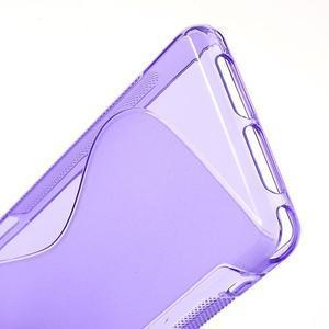 Gelové S-line pouzdro na Sony Xperia Z1 Compact - fialové - 4