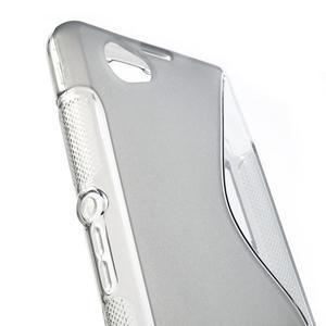 Gelové S-line pouzdro na Sony Xperia Z1 Compact - šedé - 4