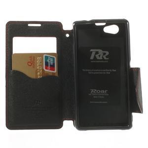 Okýnkové pouzdro na mobil Sony Xperia Z1 Compact - červené - 4