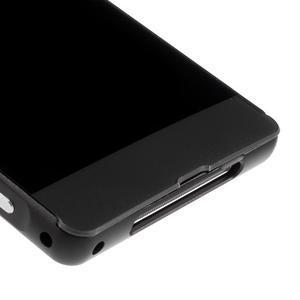 Kovový kryt s plastovými zády na Sony Xperia Z1 - černý - 4